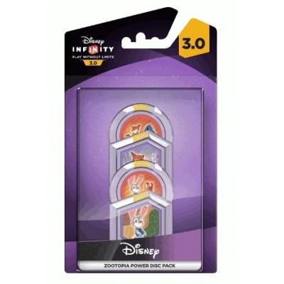 Foto van Disney, Infinity 3.0 4 Power Discs Pack - Zootopia