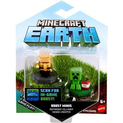 Foto van Minecraft Earth - Mini Boosts Assorted Pack 2 Figures (Pillager/Creeper) MERCHANDISE