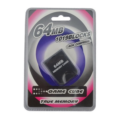 Foto van Memory Card 64Mb/1019 Blocks True Memory NGC