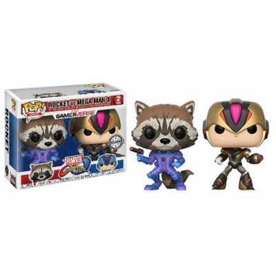 Pop! Games: Marvel vs Capcom Infinite - Rocket vs Mega Man X Exclusive FUNKO