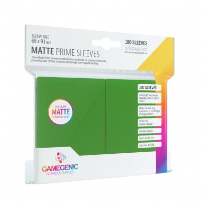 TCG Matte Prime Sleeves 66 x 91 mm - Green (Standard Size/100 Stuks) SLEEVES