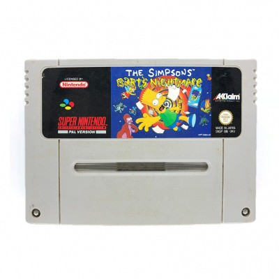 Foto van The Simpsons Bart's Nightmare(Losse Cassette) SNES