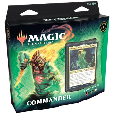 Foto van TCG Magic The Gathering Zendikar Rising Commander - Land's Wrath MAGIC THE GATHERING