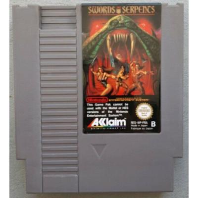Foto van Swords And Serpents (Losse Cassette) NES