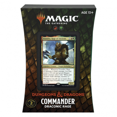 Foto van TCG Magic The Gathering D&D Forgotten Realms Commander Deck - Draconic Rage MAGIC THE GATHERING