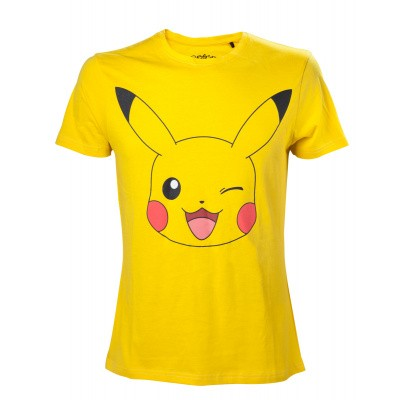 Foto van Pokemon - Men's Pikachu Print Yellow - M