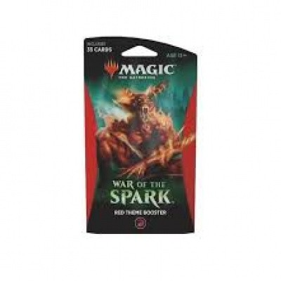 Foto van TCG Magic The Gathering Theme Booster - War Of The Spark Red MTG