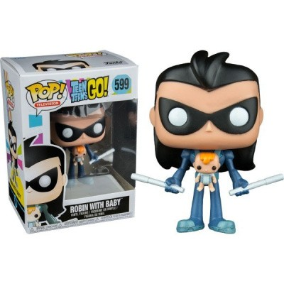 Foto van Pop! Tv: Teen Titans Go! - Robin With Baby FUNKO