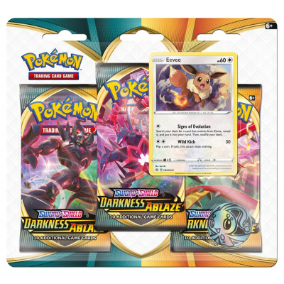 Foto van TCG Pokémon Sword & Shield Darkness Ablaze Booster Packs - Eevee POKEMON