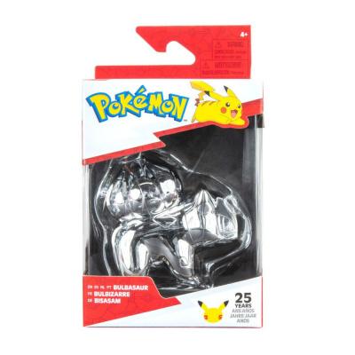 Pokemon - 25th Celebration 3 Inch Silver Bulbasaur Figure MERCHANDISE