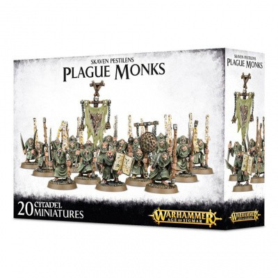 Foto van Skaven Pestilens Plague Monks Warhammer Age of Sigmar