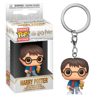 Pocket Pop! Keychain: Harry Potter - Holiday Harry FUNKO