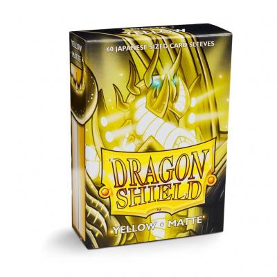 TCG Sleeves Matte Dragon Shield - Yellow (Japanese Size) SLEEVES