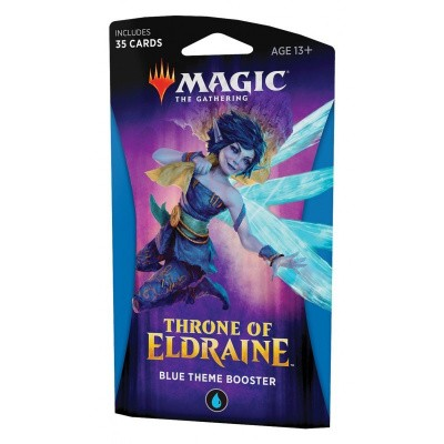 TCG Magic The Gathering Blue Theme Booster Pack Throne Of Eldraine MAGIC THE GATHERING