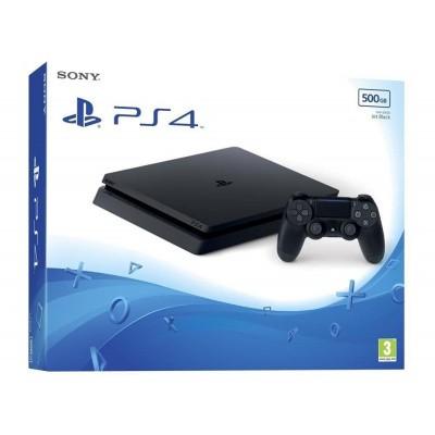Playstation 4 Console 500Gb (Slim) Jet Black PS4