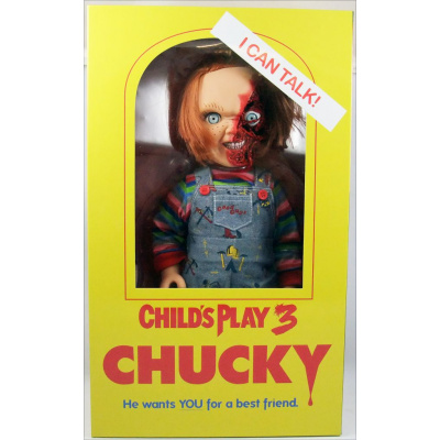 Child's Play: 15 inch Talking Pizza Face Chucky Doll MERCHANDISE