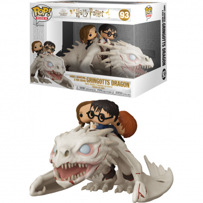 Foto van Pop! Harry Potter: Gringotts Dragon with Harry, Ron and Hermione FUNKO