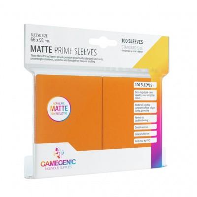 TCG Matte Prime Sleeves 66 x 91 mm - Orange (Standard Size/100 Stuks) SLEEVES