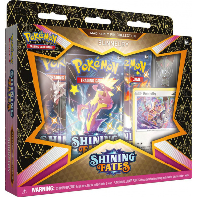 TCG Pokémon Shining Fates Mad Party Pin Collection - Bunnelby POKEMON