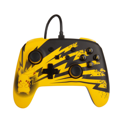 Foto van PowerA Enhanced Wired Controller - Lightning Pikachu SWITCH