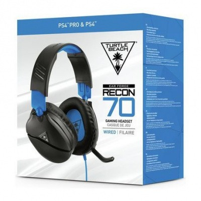 Foto van Turtle Beach Ear Force Recon 70 Wired Gaming Headset (Black) PS4