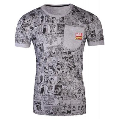 Marvel Comics - Comic AOP Pocket Men's T-Shirt - L