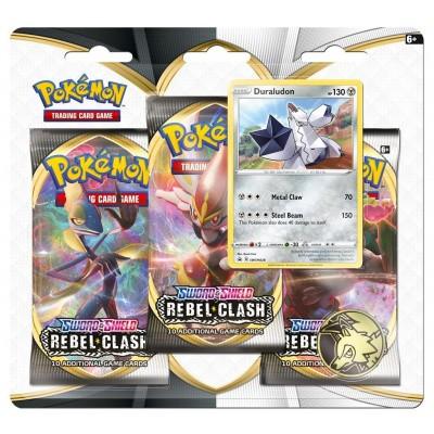 Foto van TCG Pokémon Sword & Shield Rebel Clash Booster Packs - Duraludon POKEMON