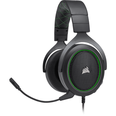 Foto van Corsair Hs50 Stereo Gaming Headset Green (Pc/Ps4/Xone/Switch/Mobile) PS4