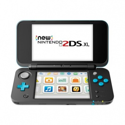 New Nintendo 2Ds XL Black + Turquoise 3DS