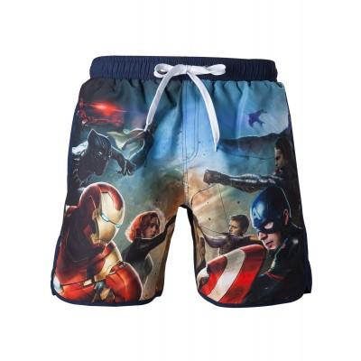 Marvel - Captain America Swimshort Blue With Frontside Avengers (M) MERCHANDISE