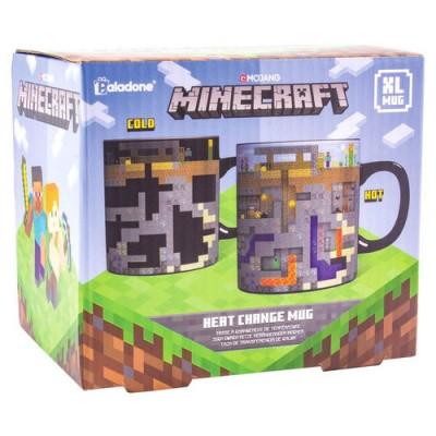 Foto van Minecraft - XL Heat Change Mug MERCHANDISE