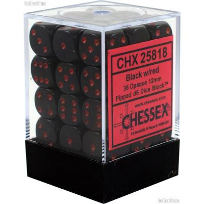 Dice Set Opa Black/Red 12mm (36Pcs) DICES