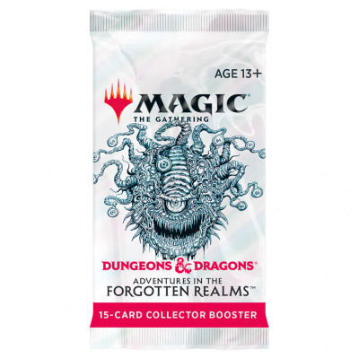 TCG Magic The Gathering D&D Forgotten Realms Collector Booster Pack MAGIC THE GATHERING