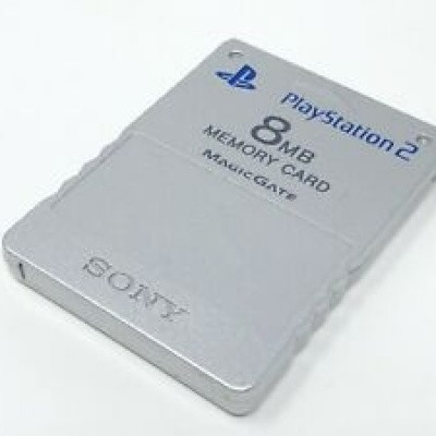 Foto van Memory Card 8Mb Silver PS2