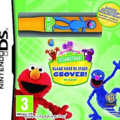 Foto van 123 Sesamstraat Klaar Voor De Start. Grover! De Game NDS