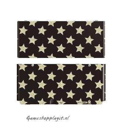 Foto van New 3Ds Cover Plate Stars Black 3DS
