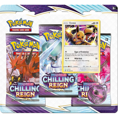 Foto van TCG Pokémon Sword & Shield Chilling Reign Booster Packs - Eevee POKEMON