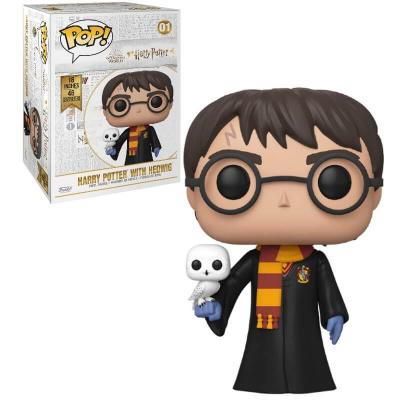 Foto van Pop! Figure: Harry Potter - Harry with Hedwig Super Sized 45cm FUNKO