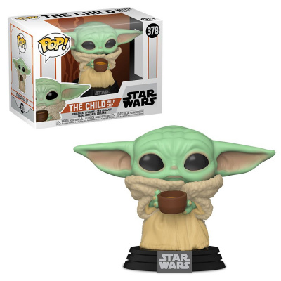 Foto van Pop! Star Wars: The Mandalorian - The Child with Cup FUNKO