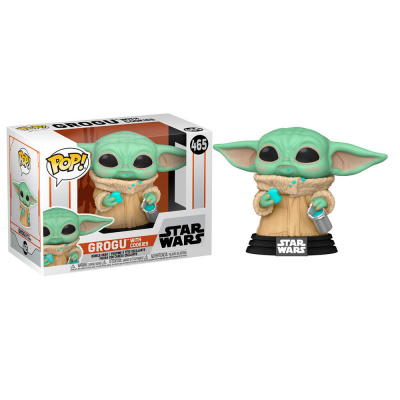 Foto van Pop! Star Wars: The Mandalorian - Grogu with Cookies FUNKO