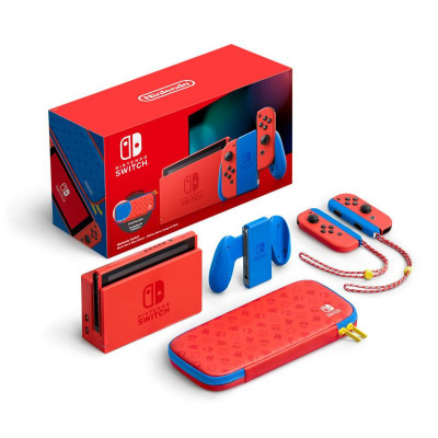 Nintendo Switch Console (2019 upgrade) Mario Red & Blue Edition SWITCH