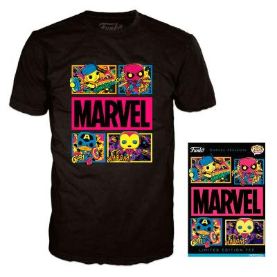 Foto van Marvel: Black Light T-Shirt - L
