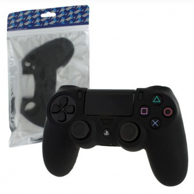 Foto van Pro Soft Silicone Protective Cover (Black) PS4