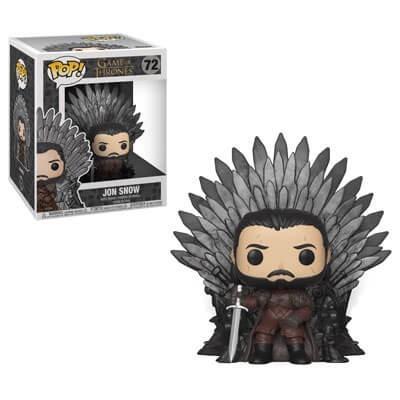 Foto van Pop! Deluxe: Game Of Thrones - Jon Snow Sitting On Iron Throne FUNKO