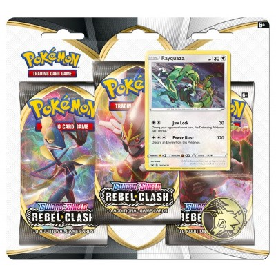 TCG Pokémon Sword & Shield Rebel Clash Booster Packs - Rayquaza POKEMON