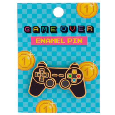 Game Over Controller Pin Badge MERCHANDISE