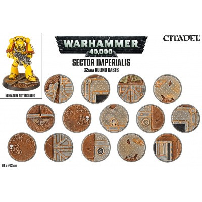 Sector Imperialis 32Mm Round Bases Warhammer 40k