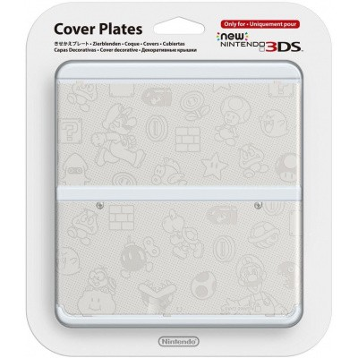 Foto van New 3Ds Cover Plate Super Mario White 3DS