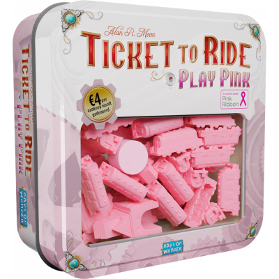 Foto van Ticket To Ride Play Pink Expansion BORDSPELLEN