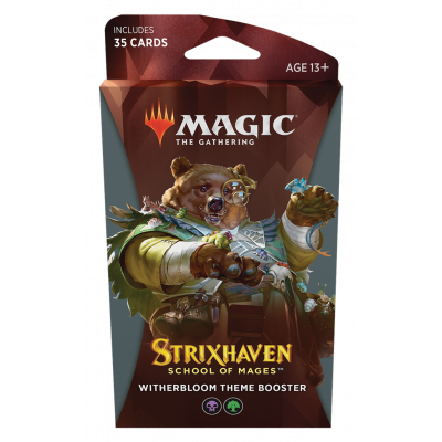 TCG Magic The Gathering Strixhaven Black Theme Booster - Witherbloom MAGIC THE GATHERING
